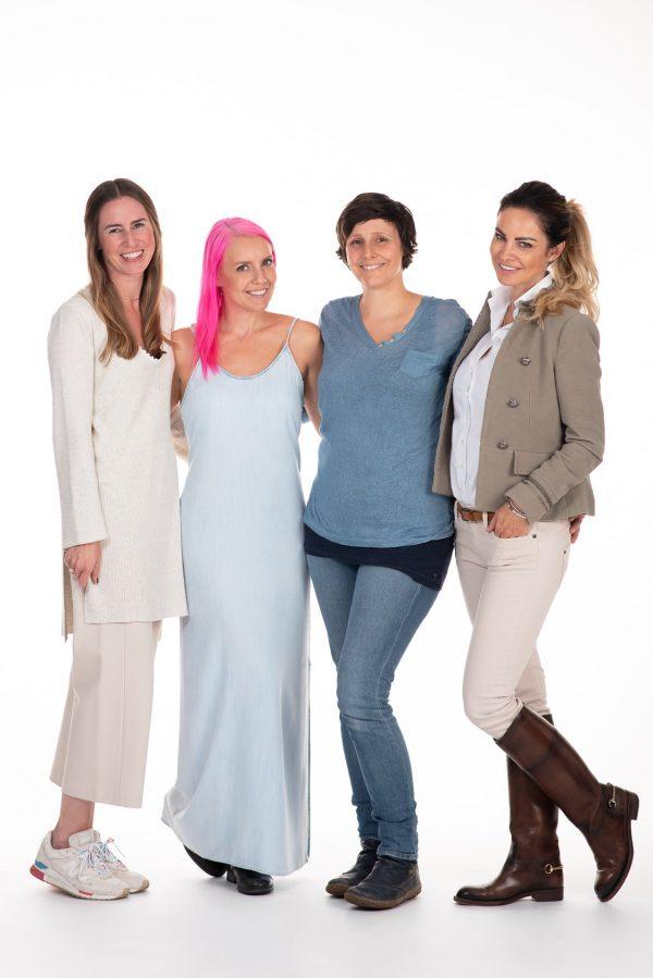 DAS BIN iCH-Team: Julia Kurbatfinsky, Ines Thomsen, Nadja Kapeller, Silvia Schachermayr.